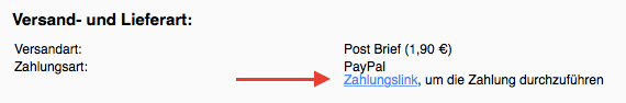 Zahlungslink PayPal