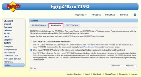 Fritz!Box Auto-Update