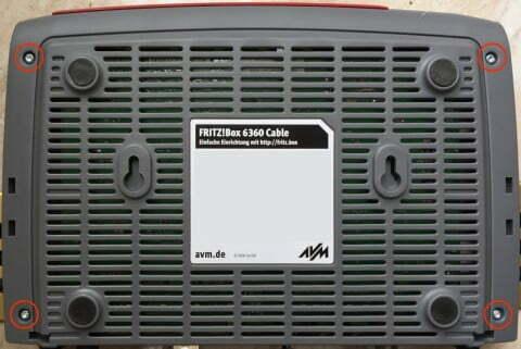 Fritz!Box 6360 Unterseite