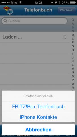 FRITZ!App Fon Einrichtung