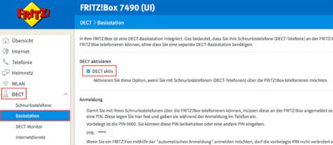 Fritz!Box 7490 DECT Einstellungen