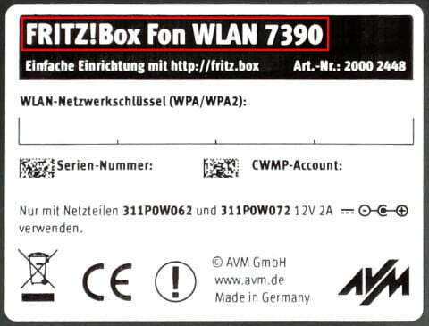 Fritz!Box Label clean