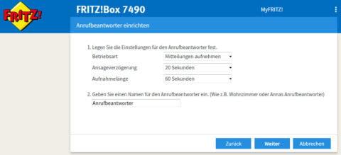 FRITZ!Box Anrufbeantworter einrichten (Quelle: giga.de)